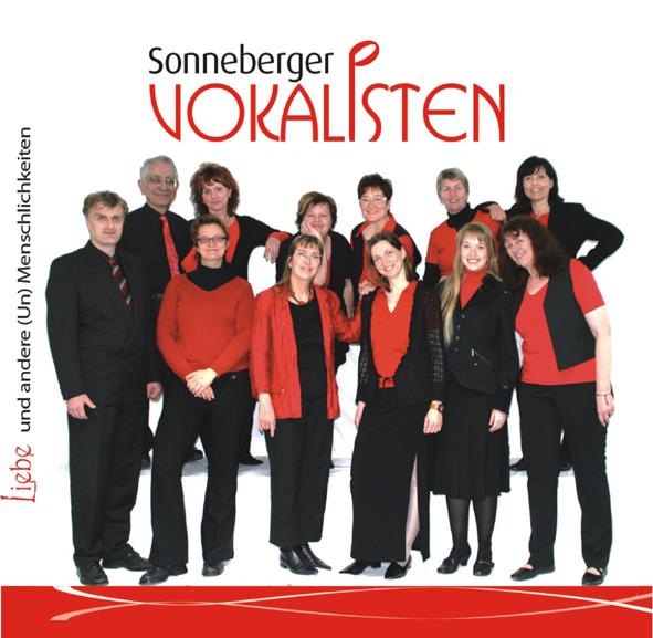 """Sonneberger Vokalisten CD """"Liebe und andere (Un) Menschlichkeiten"""" 2010"""